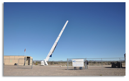 SL10 launchpad at Spaceport America, NM